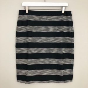 J. Crew The Pencil Skirt Striped Jacquard
